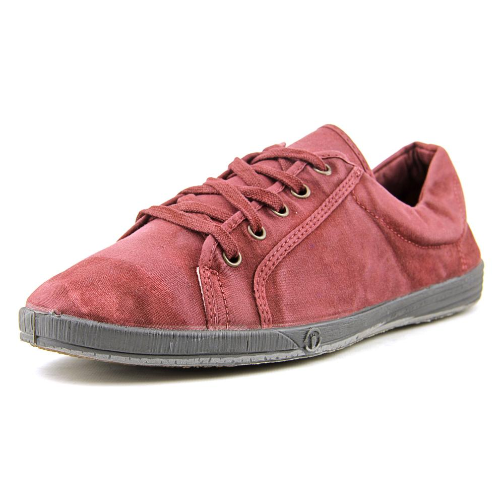 Natural World 2308 Women  Round Toe Canvas Burgundy Sneakers