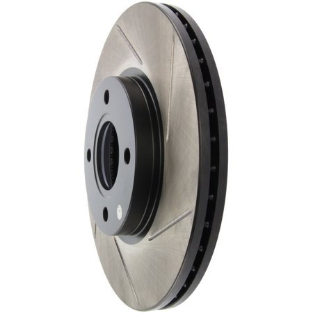 StopTech 2014 Ford Fiesta Left Front Disc Slotted Brake (Front Left Brake Disc Rotor)
