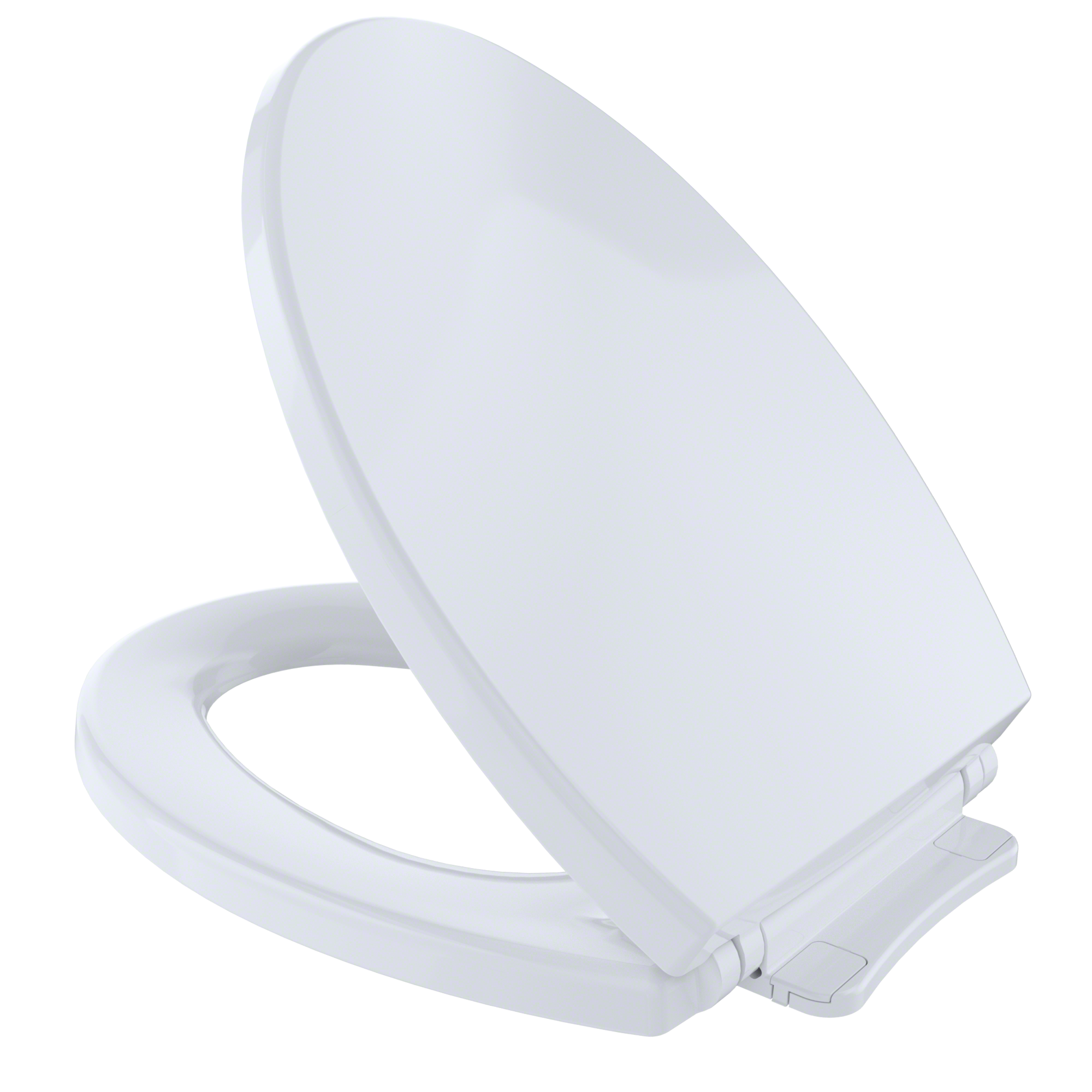 TOTO® SoftClose® Non Slamming, Slow Close Elongated Toilet Seat and Lid, Cotton White - SS114#01