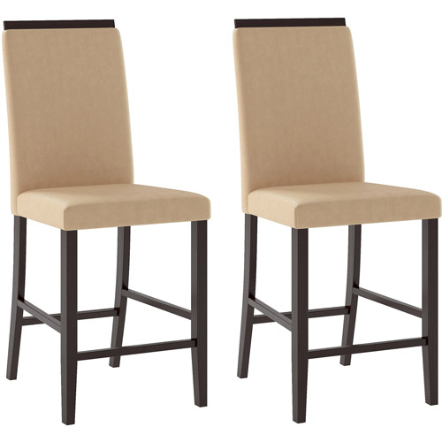 CorLiving Bistro Dining Chairs With Fabric Seat, Set Of 2