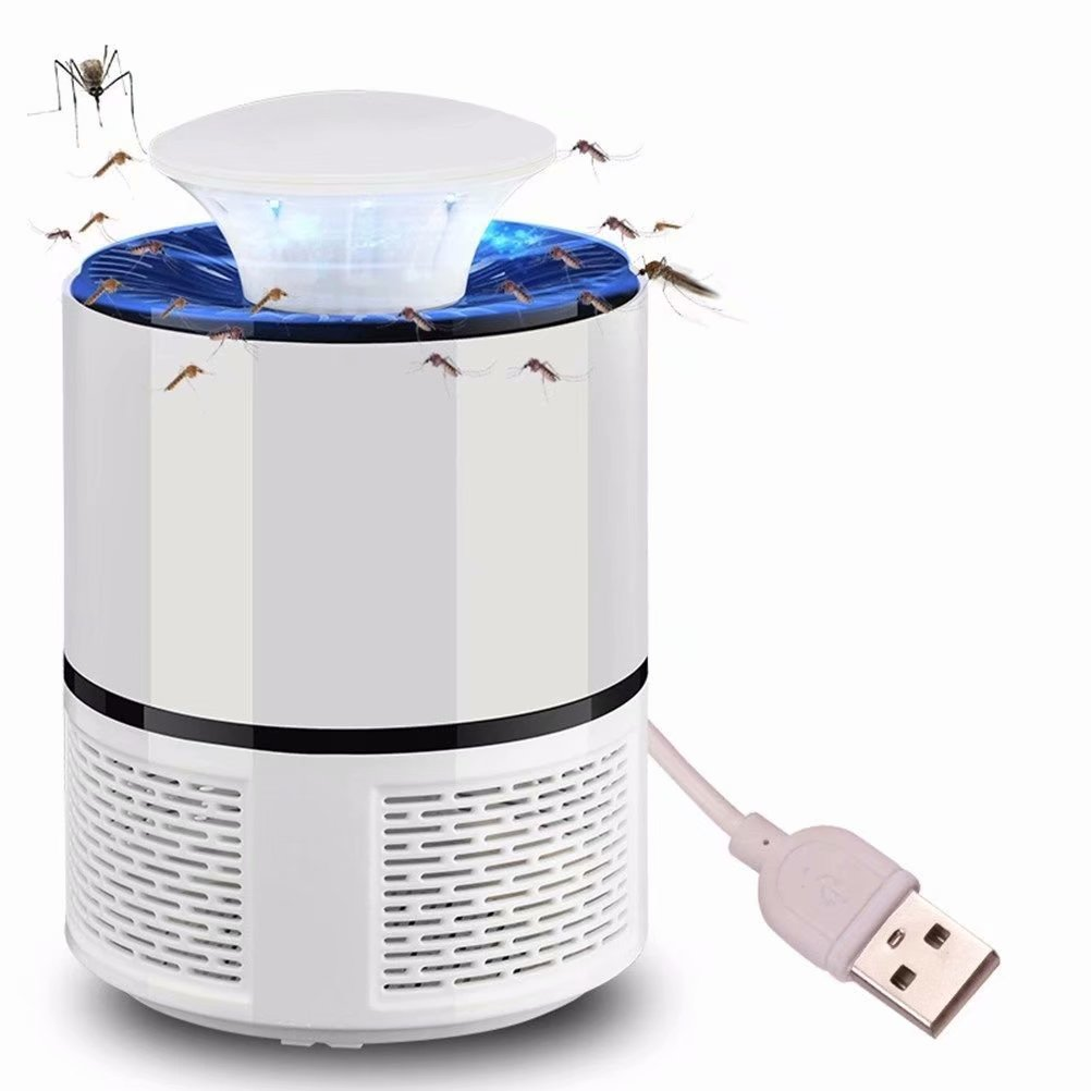 Akoyovwerve Electric Mosquito Zapper USB Fly Bug Insect Killer LED Light Trap Lamp Pest Control White