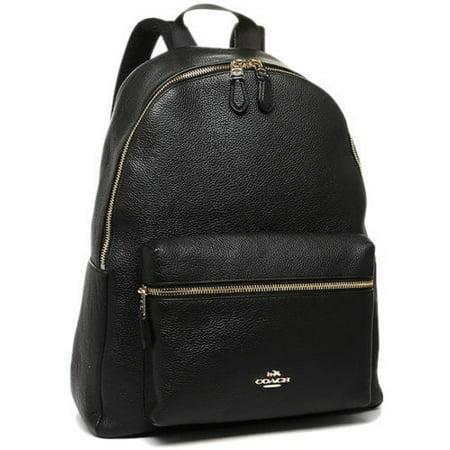 b960b8b8b0 Coach - NEW WOMEN S (F38288) BLACK CHARLIE PEBBLE LEATHER BACKPACK BAG -  Walmart.com