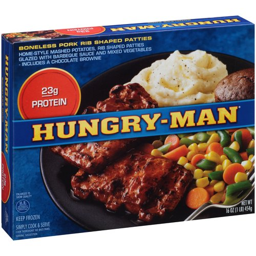 Hungry-Man Boneless Pork Frozen Dinner, 16 Oz