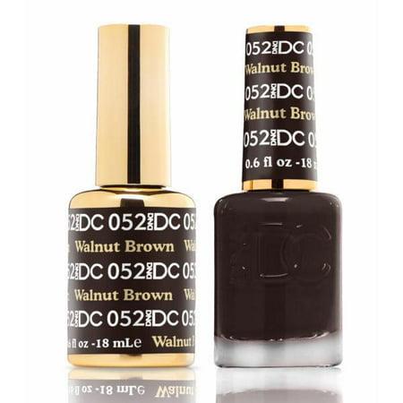 DND DC Soak Off Gel Polish + Matching Nail Polish Duo #52 Walnut Brown