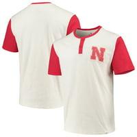 Nebraska Cornhuskers Fanatics Branded True Classics Henley T-Shirt - White