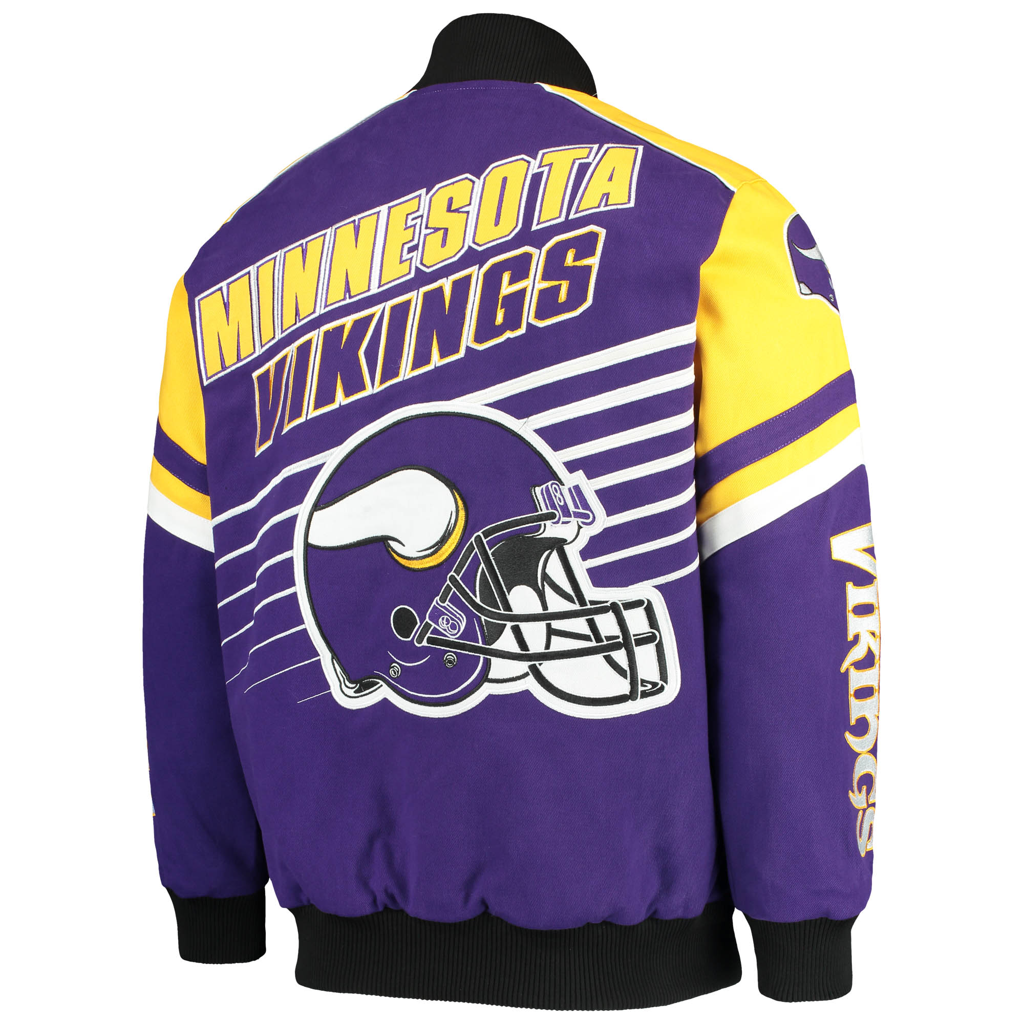 sports shoes 97564 6ddd1 Minnesota Vikings G-III Extreme Linebacker Twill Jacket - Purple