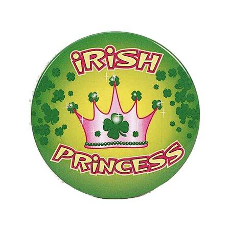 Irish Costumes (Adult's Womens St. Patrick's Day Irish Princess Button Costume)