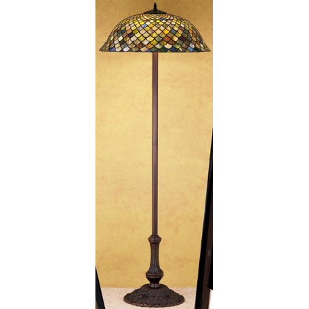 Meyda Tiffany 30456 Stained Glass / Tiffany Floor Lamp from the Tiffany Fishscale Collection ()