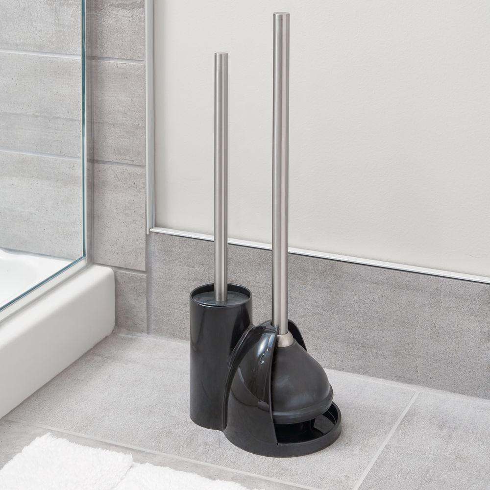 Interdesign Toilet Bowl Brush And Plunger Set For Bathroom