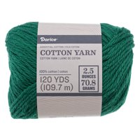 Medium Size 4 Soft 100% Cotton Yarn - Many Color Options - Weave, Knit, Crochet - Machine Washable and Dryable