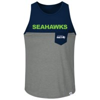 Seattle Seahawks Majestic Big & Tall Throw in the Towel Tank Top - College Navy/Charcoal