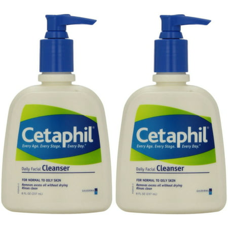 2 Pack - Cetaphil Daily Facial Cleanser For Normal To Oily Skin 8oz