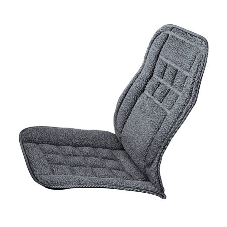Car Seat Back Lumbar Support Cushion Thick Plush Padding For Comfort On Any Length Trip One Size Grey