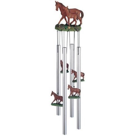 (Wind Chime Round Top Horse With Foal Hanging Garden Porch Decoration)