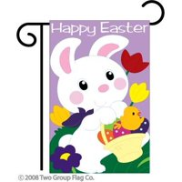 "Easter Bunny Garden Flag Indoor/outdoor 18"" X 13.5"""