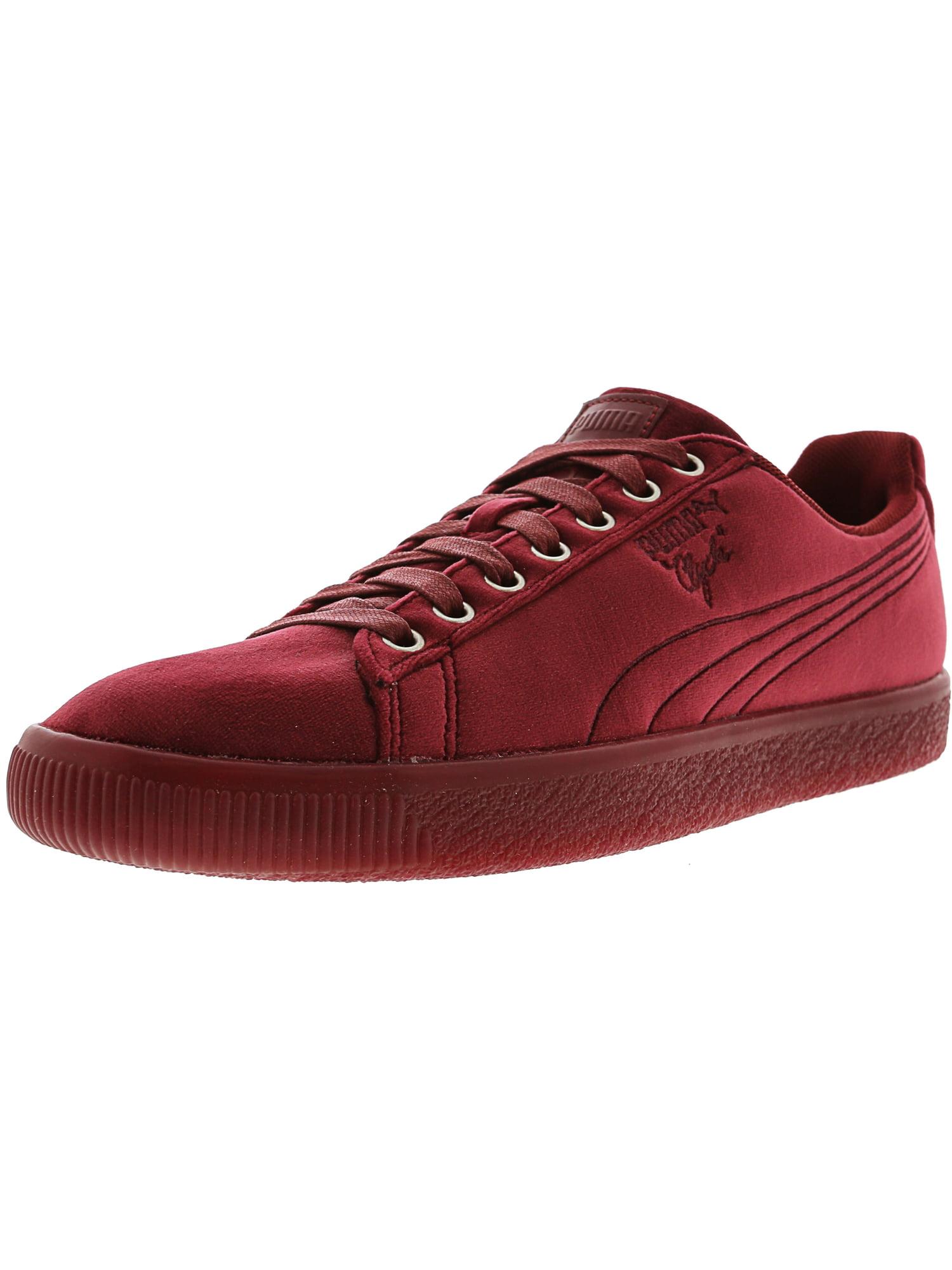 Puma Men's Clyde Velour Ice Peacoat Ankle-High Velvet Fashion Sneaker - 11M