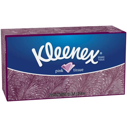 Kleenex Pink Facial Tissues, 152 sheets