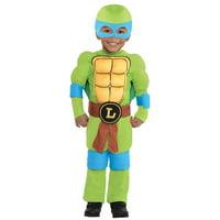 Teenage Mutant Ninja Turtles Leonardo Muscle Costume, Toddler Boys, 3-4T, w Accs