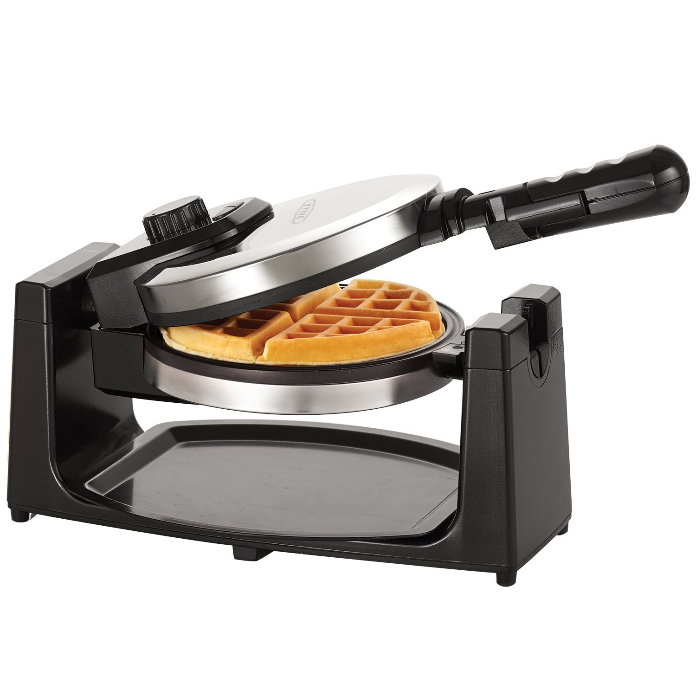 BELLA Classic Rotating Belgian Waffle Maker, Polished Sta...