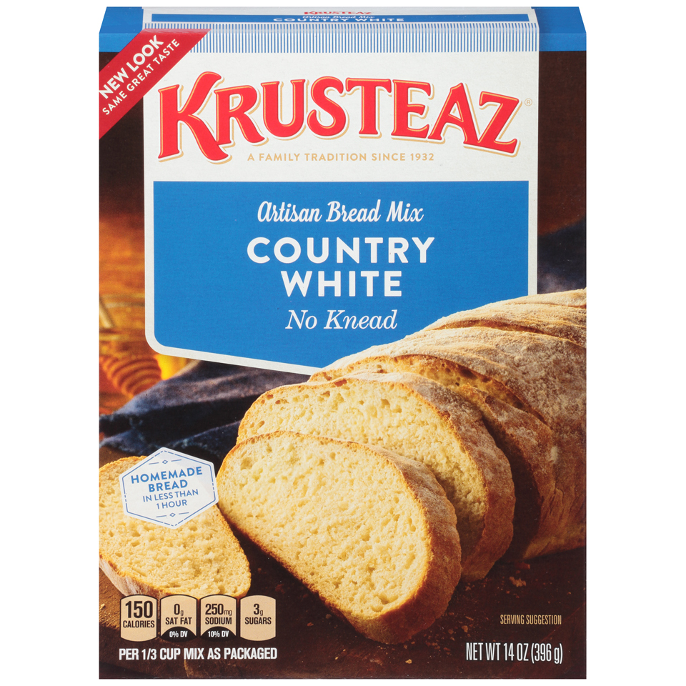 Krusteaz No Knead Artisan Bread Mix Country White, 14.0 OZ