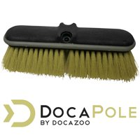 """DocaPole Medium Bristle Deck Brush and Scrub Brush Extension Pole Attachment (10"""") 