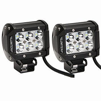 Lumitek 18w Cree Led Work Light Bar Off-road SUV Boat 4x4 Jeep Lamp 4wd Spot Led Work At 4x4 Off-road SUV Boat (Pack of 2)