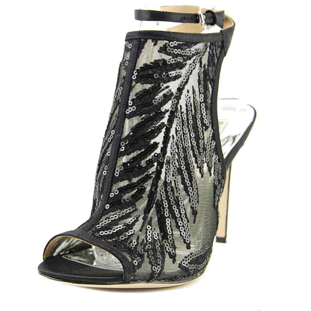 Badgley Mischka Blakely Women Open Toe Synthetic Black Sandals by Badgley Mischka