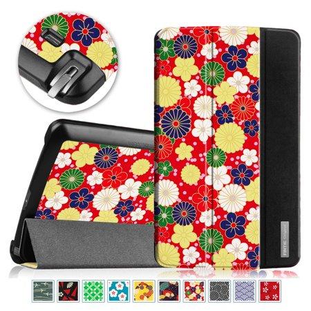 Fintie Case for LG G Pad F 8.0 AT&T V495/T-Mobile V496 /US Cellular UK495 - Slim Shell Standing Cover, Flower