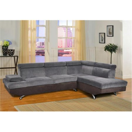 Lifestyle Furniture Lf2806b Genoa Right Hand Facing Sectional Sofa Dark Grey Black 38