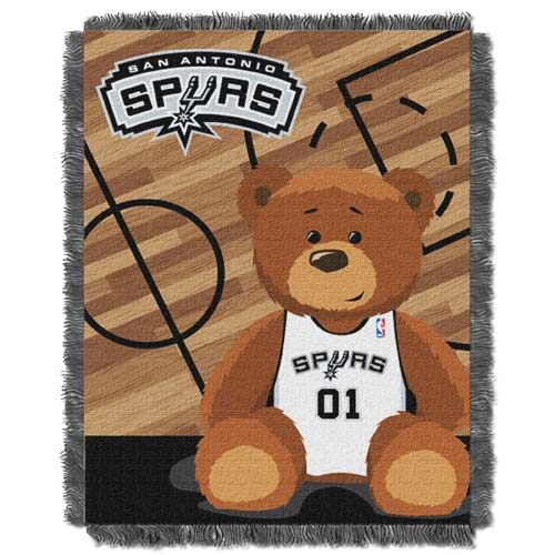 San Antonio Spurs Jacquard BABY Throw Blanket