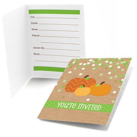 Invitations Halloween Party (Pumpkin Patch - Fill In Fall & Halloween Party Invitations (8)