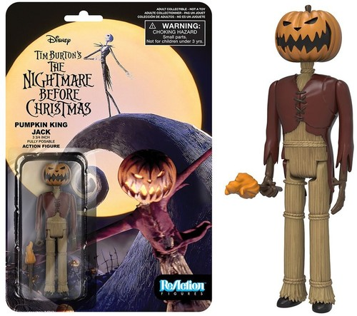 The Nightmare Before Christmas FunKo Free Jack Pumpkin King ReAction Figure