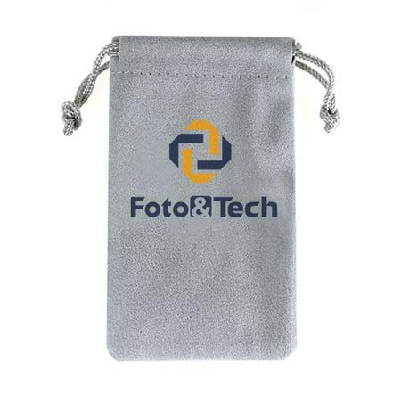 Foto&Tech Multipurpose Soft Black Velvet Pouch Bag 2.35