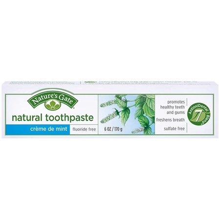 Nature's Gate Fluoride-Free Natural Creme toothpaste - 6 oz - Crème de Mint, 0 By Natures Gate ()