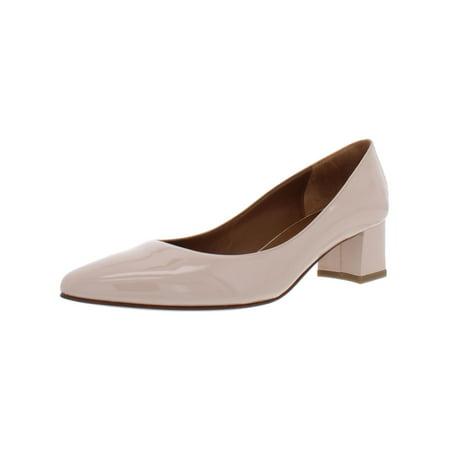Aquatalia Womens Pheobe Patent Leather Dress Pumps Pink 9.5 Medium (B,M)
