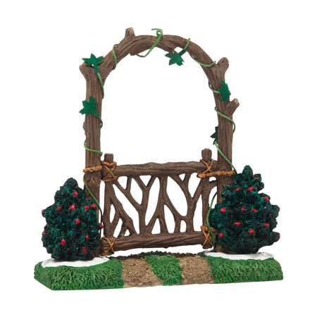 Department 56 Accessories Village Woodland Arbor Gate Accessory, 1.97-Inch, Meticulously hand crafted By (Village Gate Accessory)