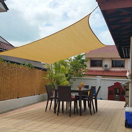 new style d21c4 09cc8 Meigar Beige Top Sun Canopy Shade Shelter Sail Net Outdoor Garden Cover  Awning Patio