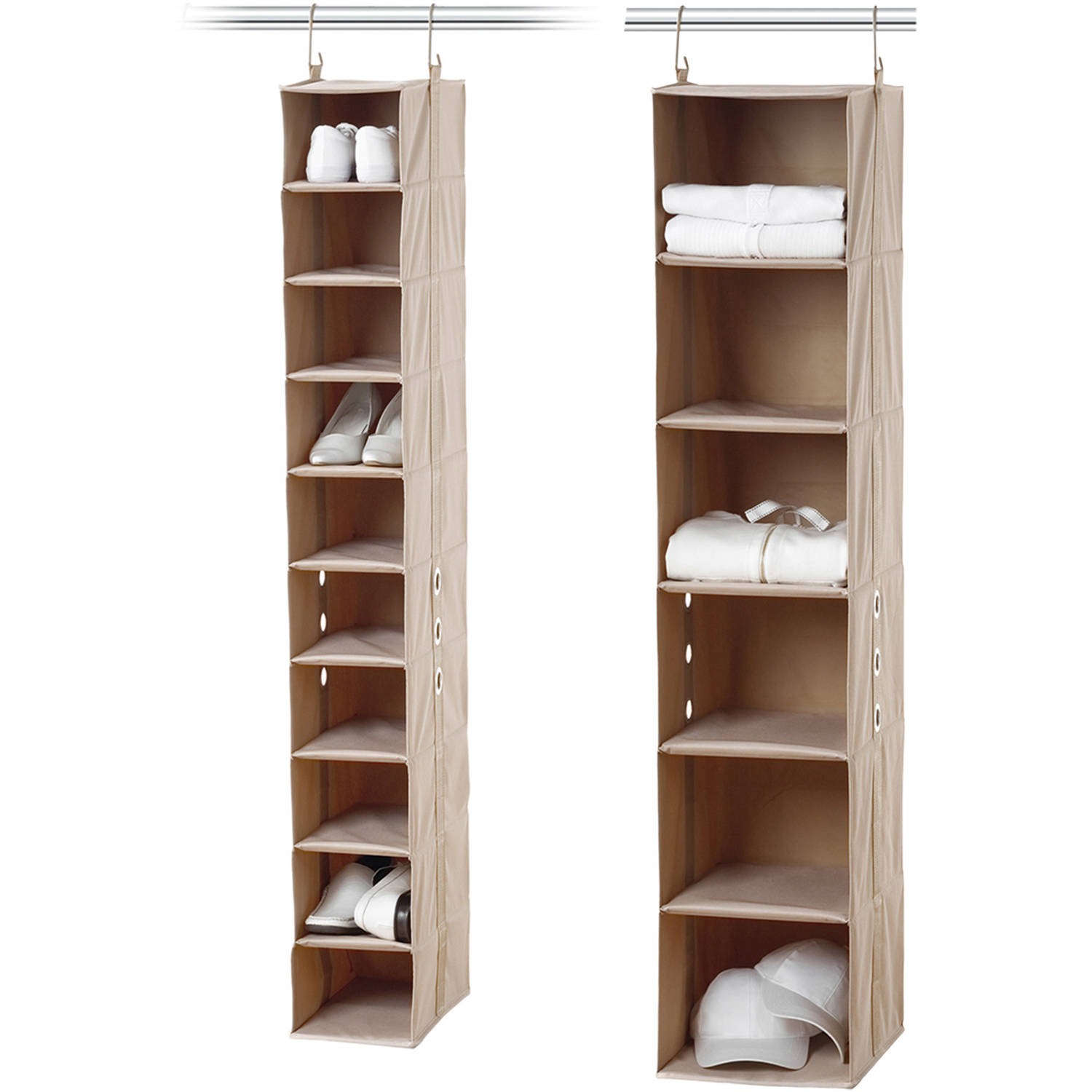 Neatfreak 10 Shelf Shoe Organizer And 6 Shelf Closet Organizer