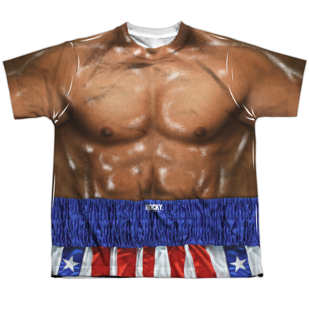 Rocky Apollo Costume Officially Licensed Sublimation Youth T Shirt