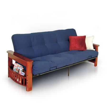 Mainstays Deluxe Wood Arm Futon With 7in Mattress