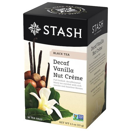 (5 Pack) Stash Tea Decaf Vanilla Nut Crème Tea, 18 Ct, 1.1 Oz