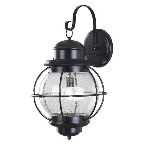 Kenroy Home Hatteras Outdoor Wall Lantern - 27H in. Black