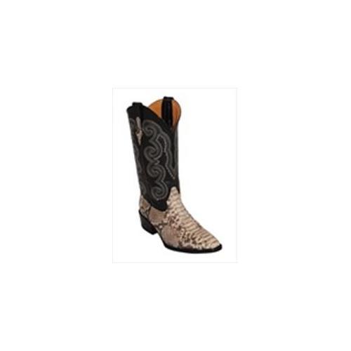 Ferrini Men's Python Natural R-Toe Leather Boots