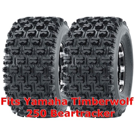 Set 2 WANDA ATV Tires 22x10-10 Yamaha Timberwolf 250 Beartracker Rear GNCC
