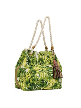 22c3bfae4b Product Image Palm Leaf Print Large Market Tote Beach Bag