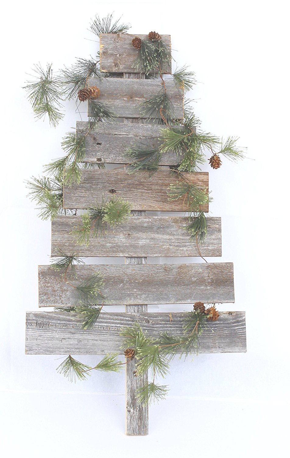 Rustic Farmhouse Weathered Gray Reclaimed Wood Christmas Trees Set Of 3 Walmart Com Walmart Com
