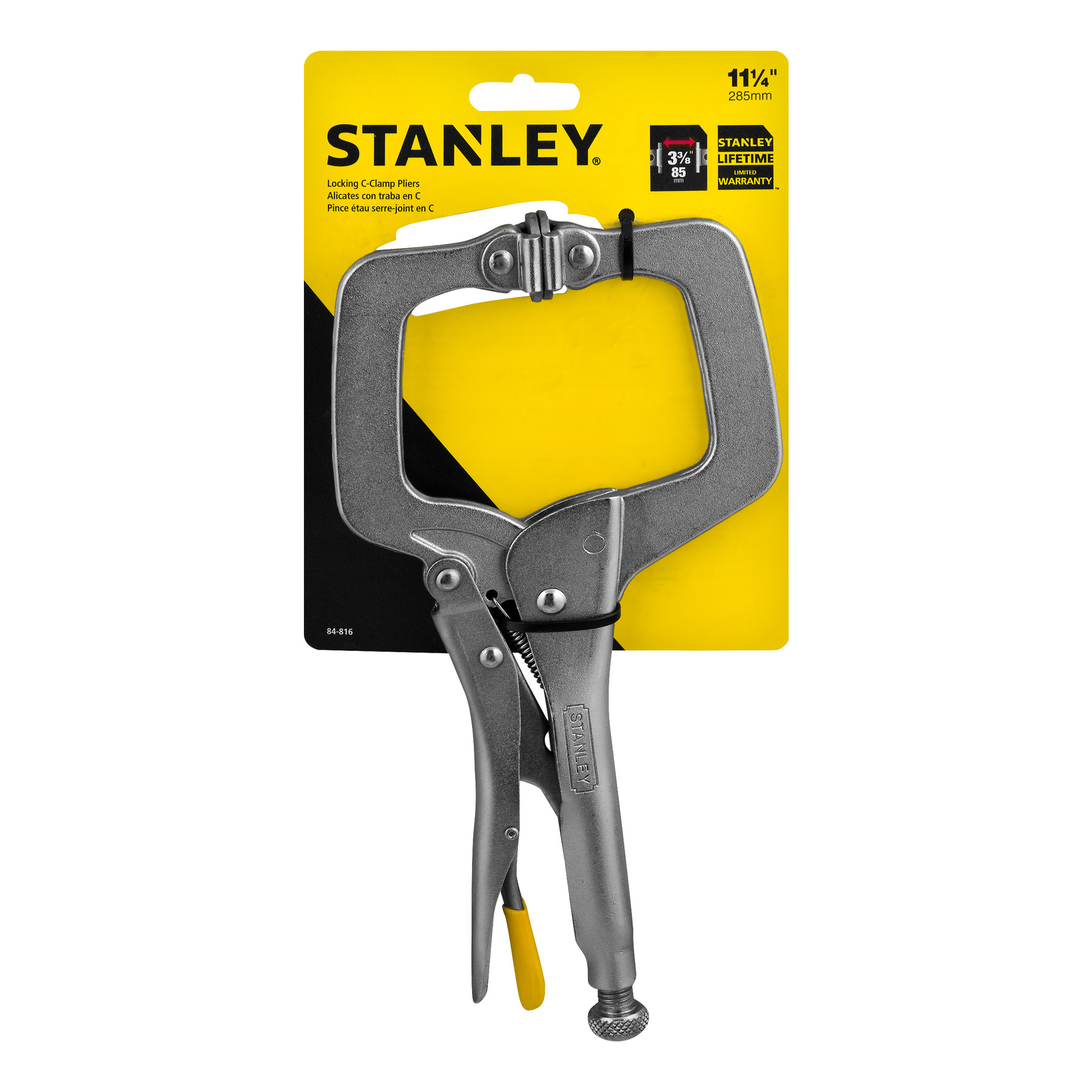 "Stanley Locking C - Clamp Pliers 11 1/4"", 1.0 CT"