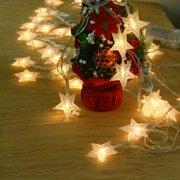 Jorlo Star Christmas Lights, LED Snowflake String Fairy Lights for Home, Party, Christmas, Wedding, Garden, Xmas Garden Patio Bedroom Decor Indoor Outdoor Celebration Lighting