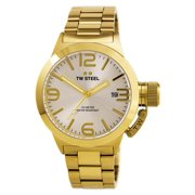 CB81 Men's Canteen Bracelet Silver Dial Yellow Gold Stainless Steel Watch