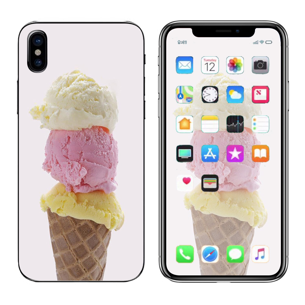 Skins Decals For Apple Iphone X 10  / Ice Cream Cone